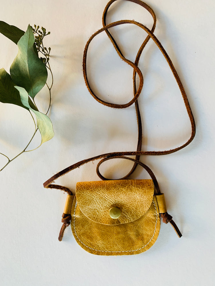 Leather Coin Purse | Mustard