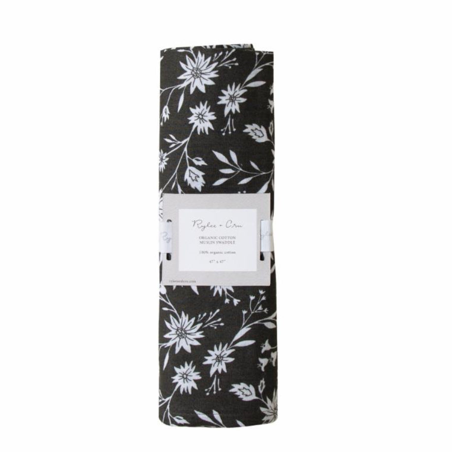 Midnight Flowers Swaddle - TAYLOR + MAX