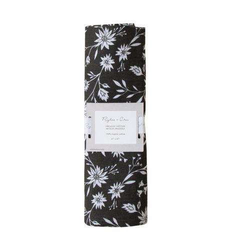 Rylee + Cru Midnight Flowers Swaddle