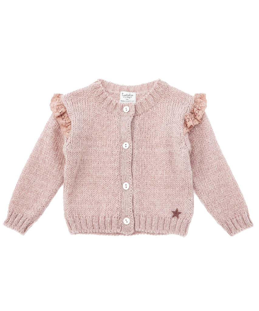 Tocoto Vintage Baby Sweater | Pale Pink