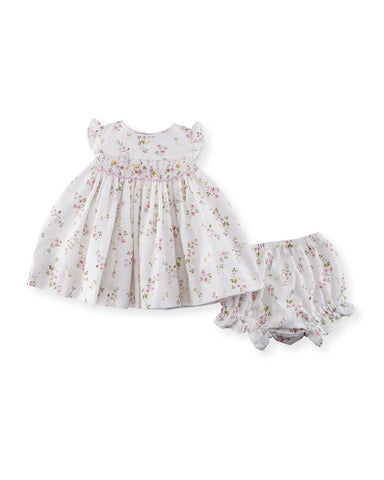 Luli & Me Flower Print Dress w/Bloomer