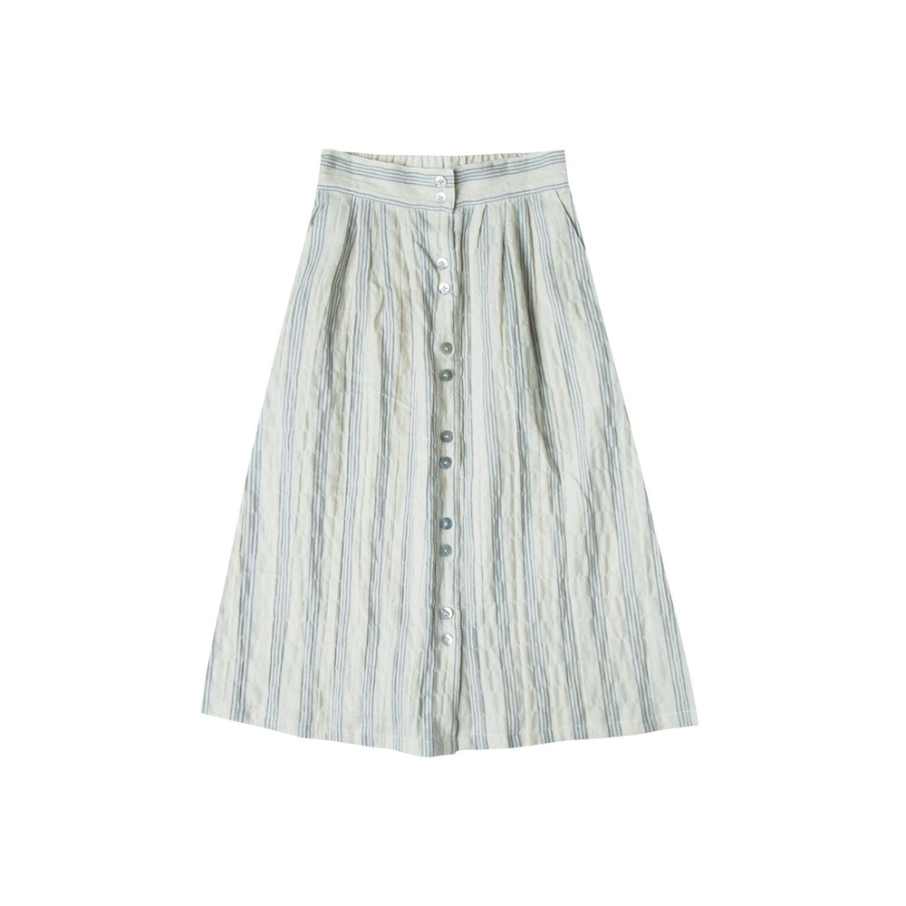 Rylee + Cru Stripe Button Down Skirt  | Women - TAYLOR + MAX