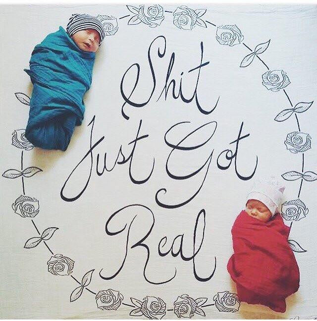 Shit Just Got Real Organic Swaddle Scarf - TAYLOR + MAX