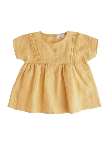 Tocoto Vintage Lace Dress | Mustard