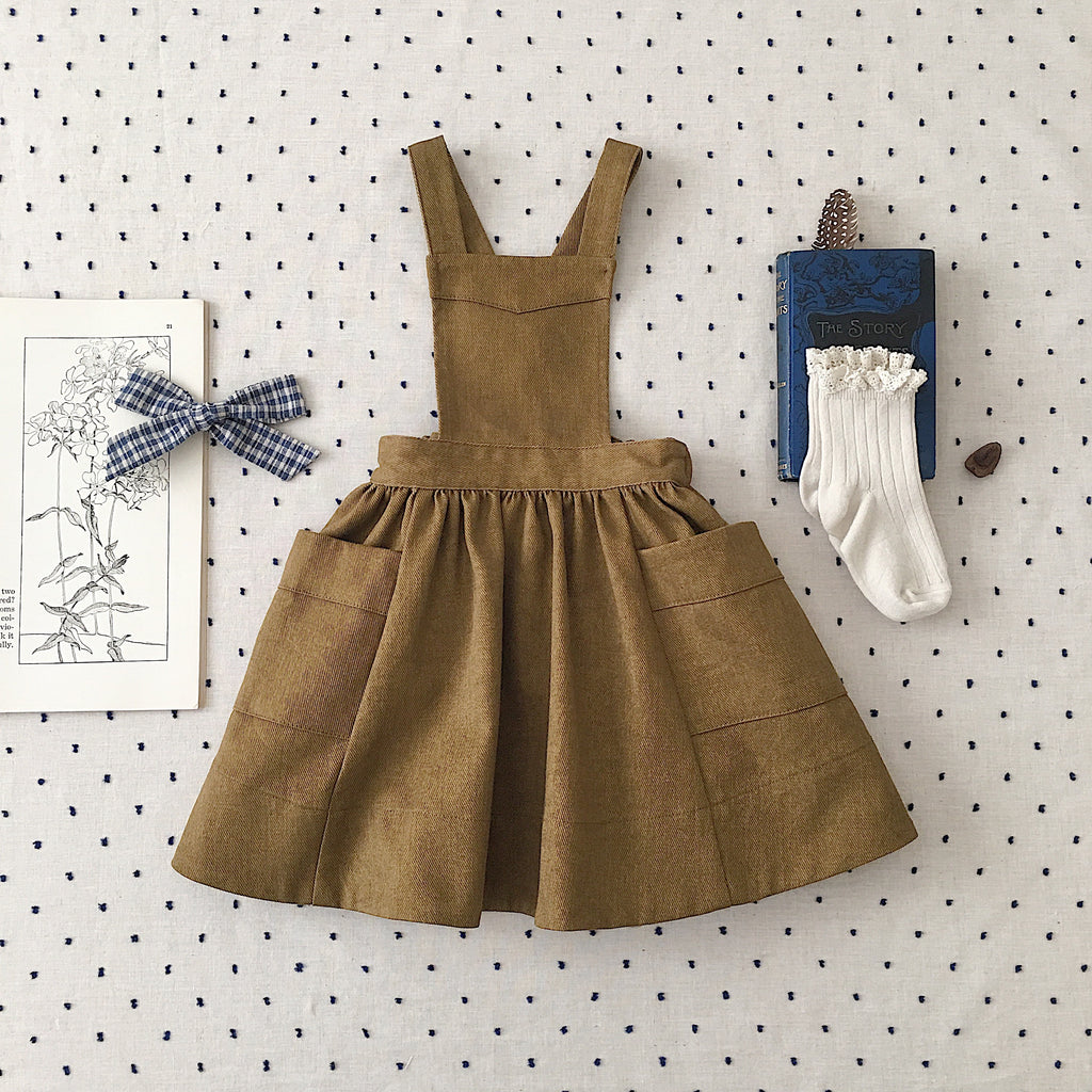 Soor Ploom Harriet Pinafore | Mushroom Canvas