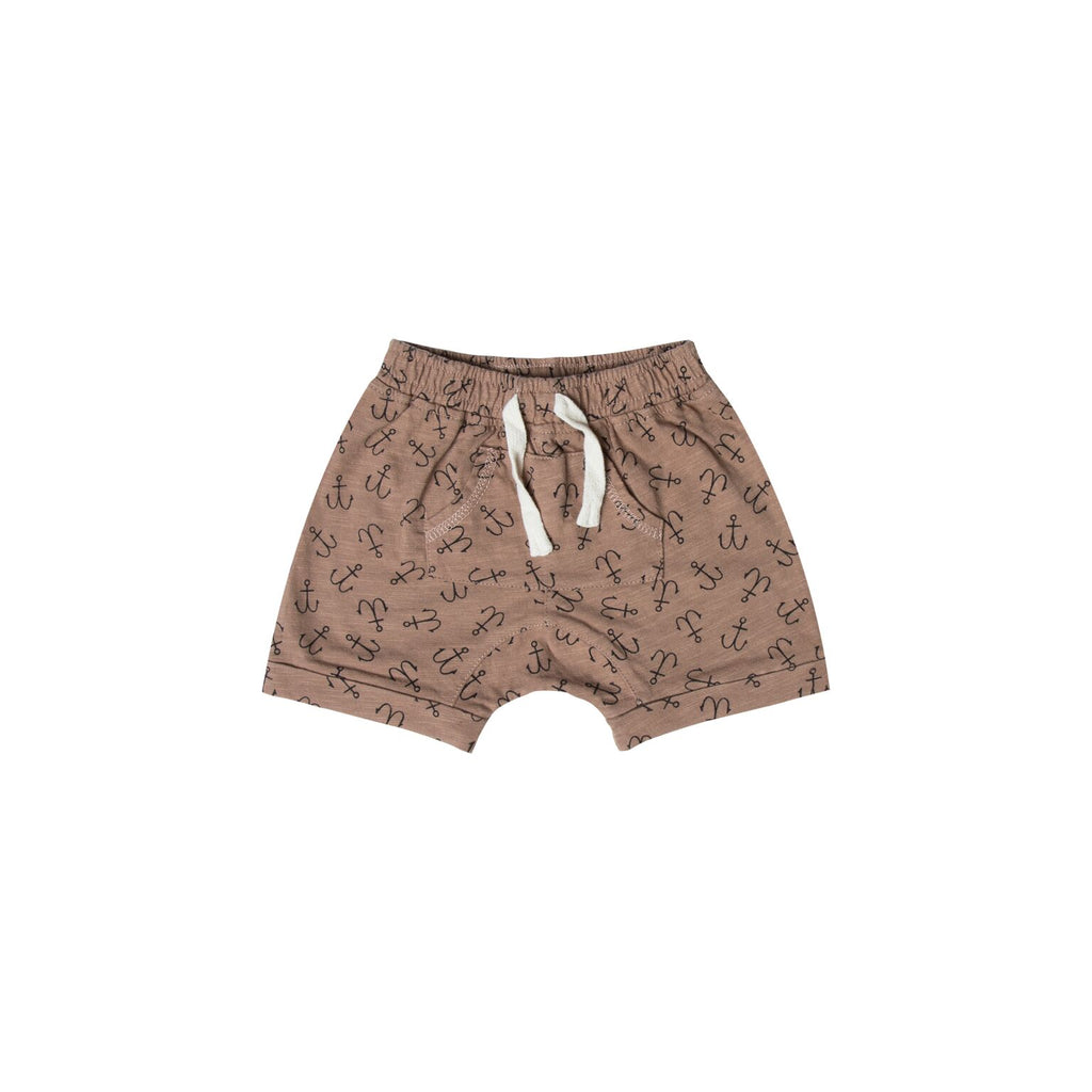 Rylee + Cru Front Pouch Shorts with Anchors - TAYLOR + MAX