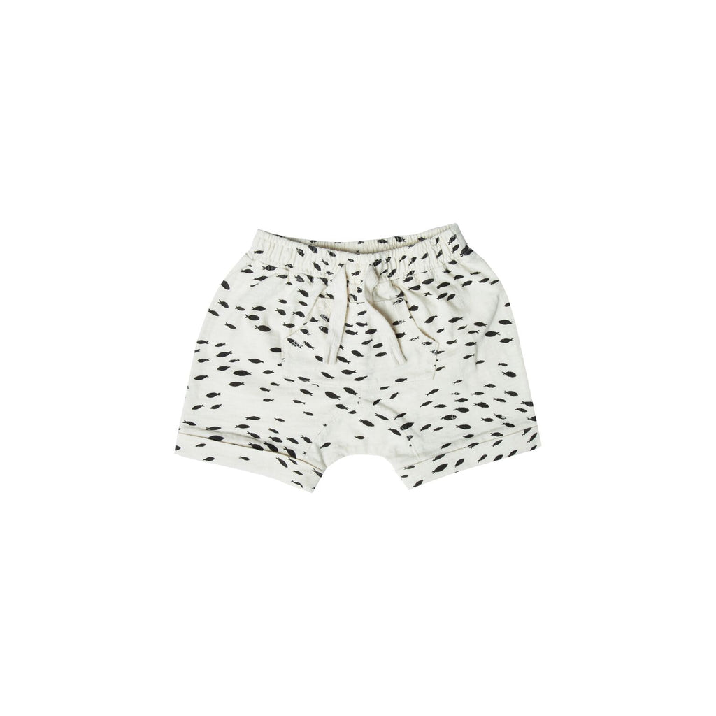 Rylee + Cru Front Pouch Shorts | Fish Print - TAYLOR + MAX