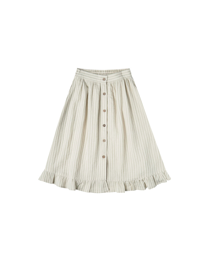 Load image into Gallery viewer, Striped Oceanside Skirt | Sage-Ivory