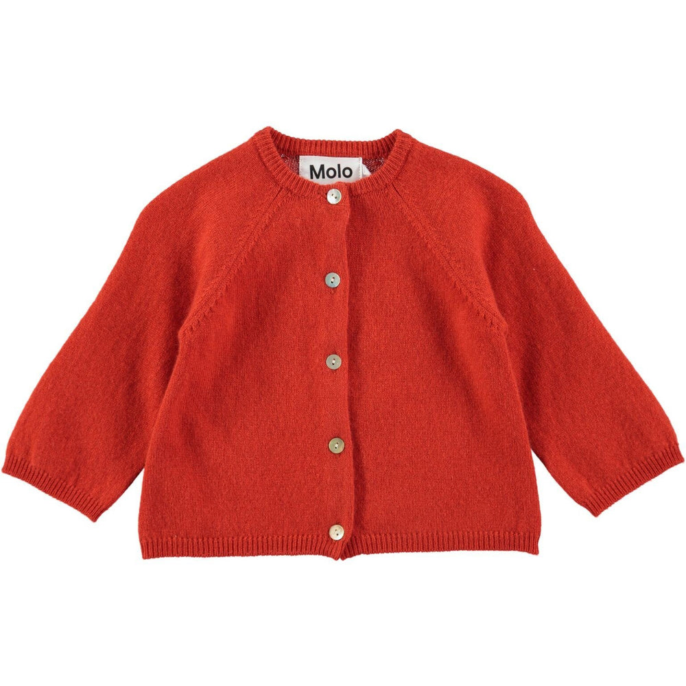 MOLO Ginger Poppy Red Cardigan - TAYLOR + MAX