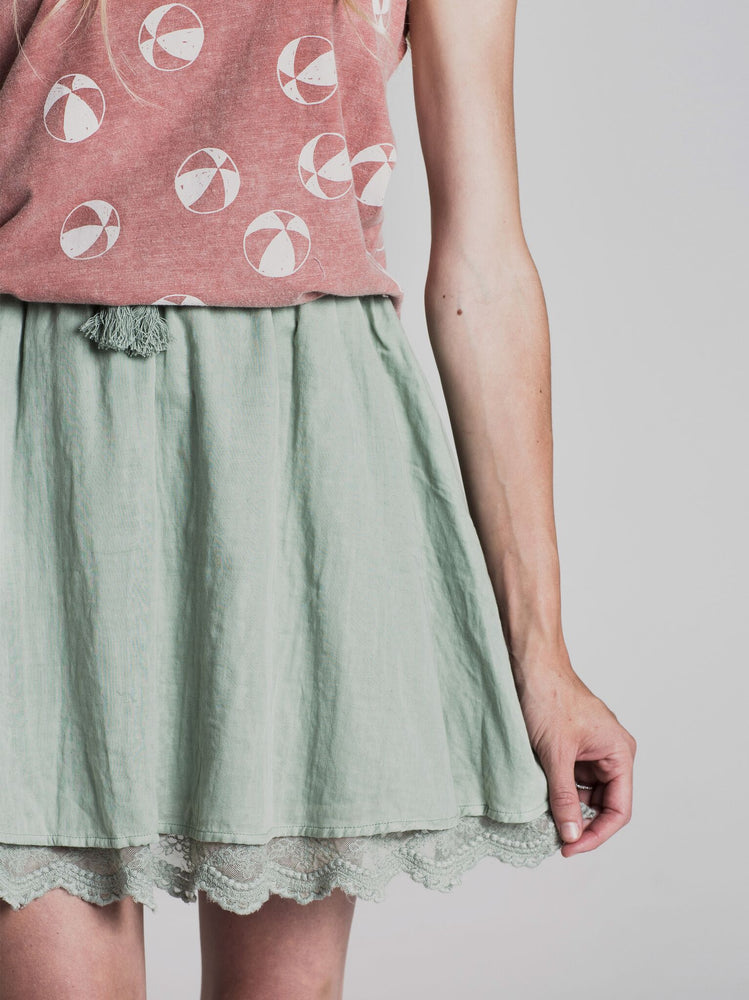 Load image into Gallery viewer, Rylee + Cru Seafoam Mini Skirt | Women - TAYLOR + MAX