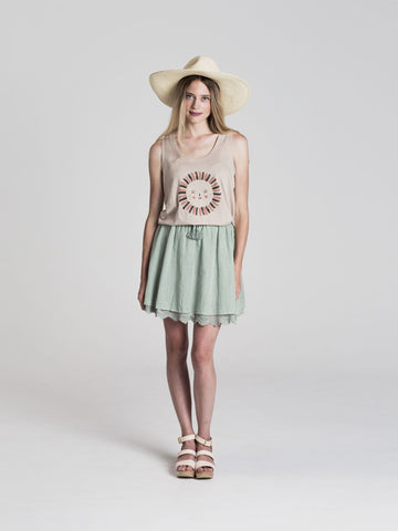 Rylee + Cru Seafoam Mini Skirt | Women