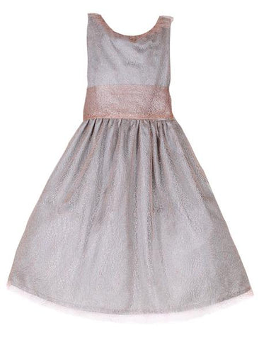 Isabel Garreton Soft Pink Mesh Big Bow Girls Dress