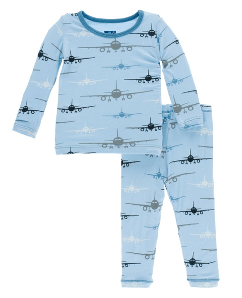 Kickee Pants Airplane Pajamas 2 Piece Set