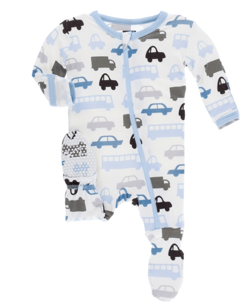Kickee Pants Cars & Trucks Footie