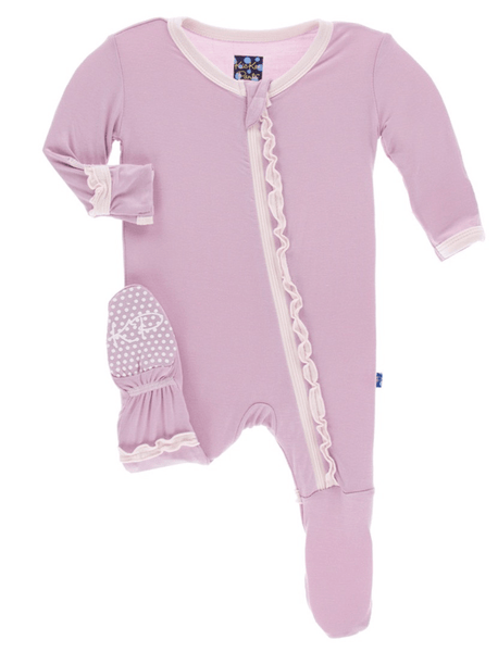 Kickee Pants Sweet Pea with Macaroon Ruffle Footie