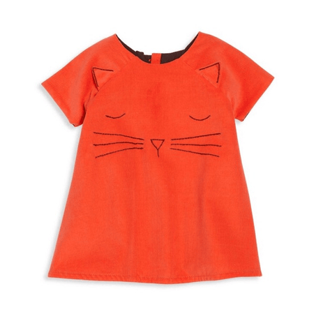 Isabel Garreton Baby's Cat Face Hand Embroidered  Dress