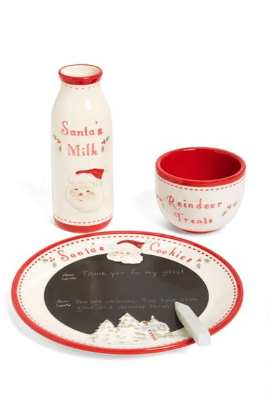 Santa Message Plate, Bowl and Milk Bottle Set - TAYLOR + MAX