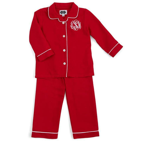 Mudpie Premium Red Pajamas