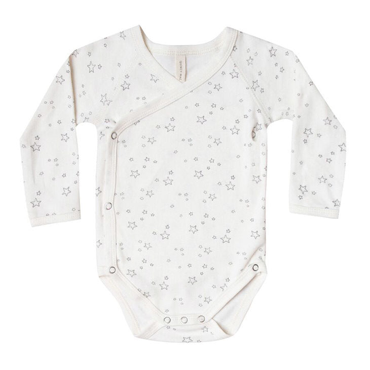Quincy Mae Long Sleeve Kimono Bodysuit, Ivory - TAYLOR + MAX