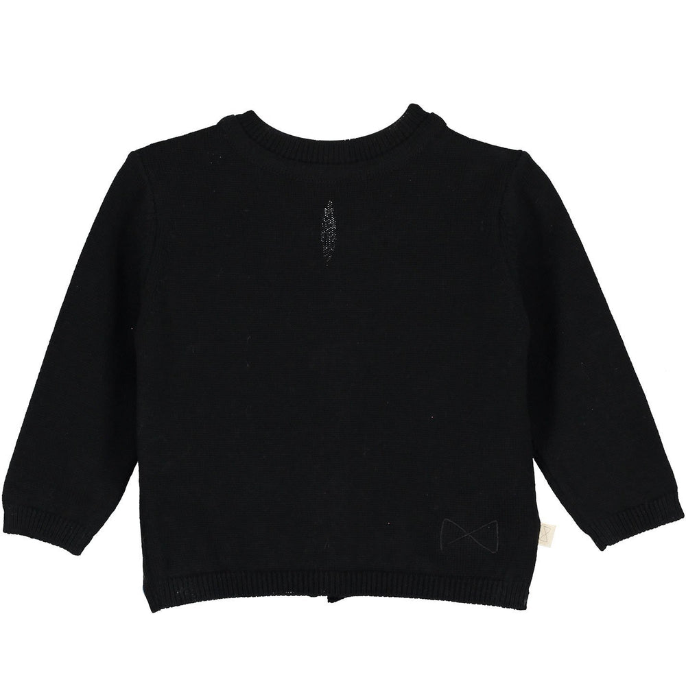 Mini Sibling Tricot Reversible Cardigan/Sweater - Black - TAYLOR + MAX
