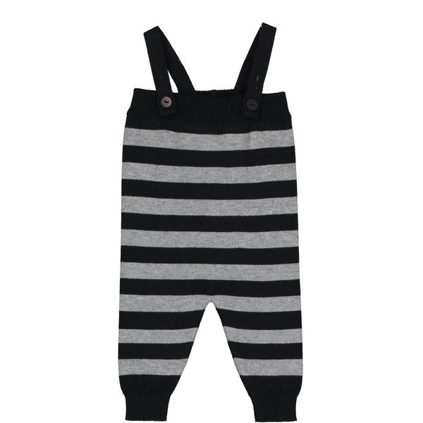 Mini Sibling Black & Grey Romper