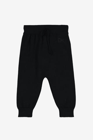 Mini Sibling Black Tricot Trouser