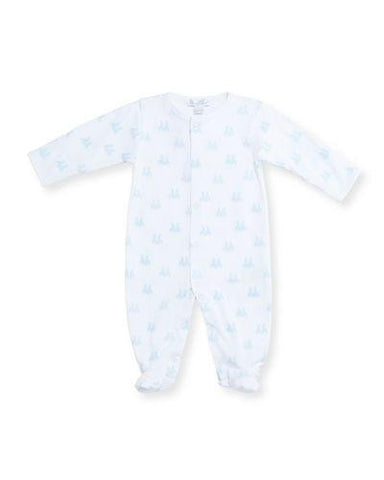 Kissy Kissy Blue Cottontail Pima Footie