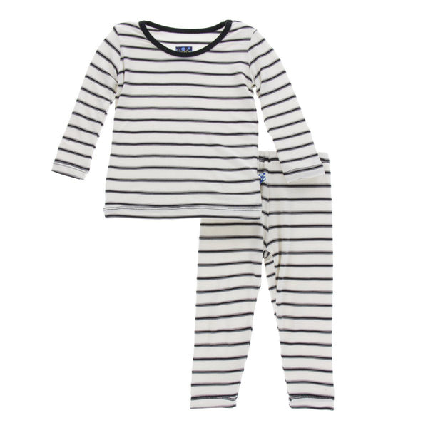 Kickee Pants Parisian Stripe 2pc Pajamas