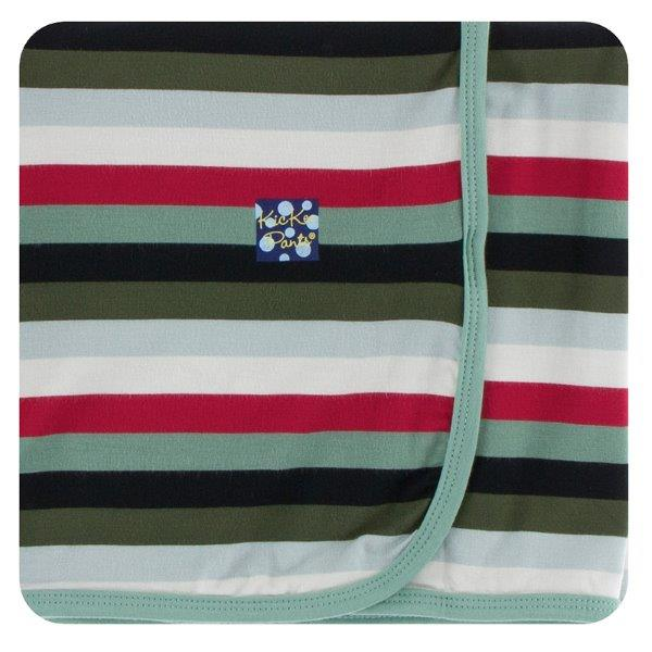 Kickee Pants Christmas Multi-Stripe Swaddling Blanket