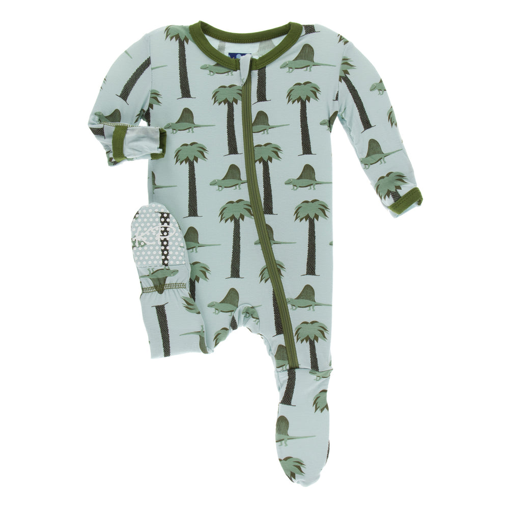 Kickee Pants Print Footie with Zipper | Dimetrodon - TAYLOR + MAX