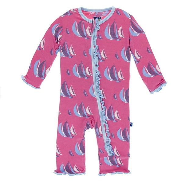 Kickee Pants Ruffle Flamingo Sailing Coverall