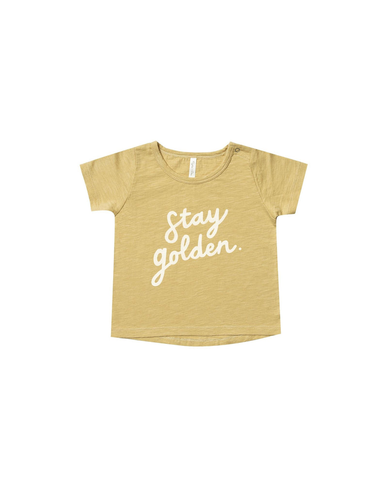 Rylee + Cru Stay Golden Basic Tee | Citron - TAYLOR + MAX