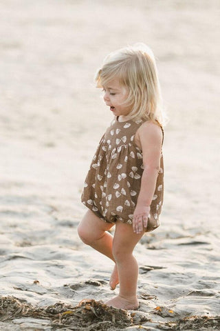 Rylee + Cru June Romper in Seashell