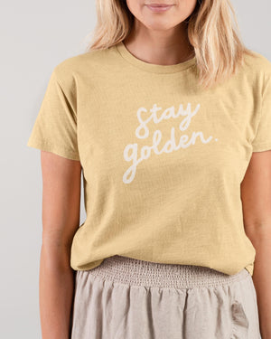 Rylee + Cru Stay Golden Basic Tee | Women - TAYLOR + MAX