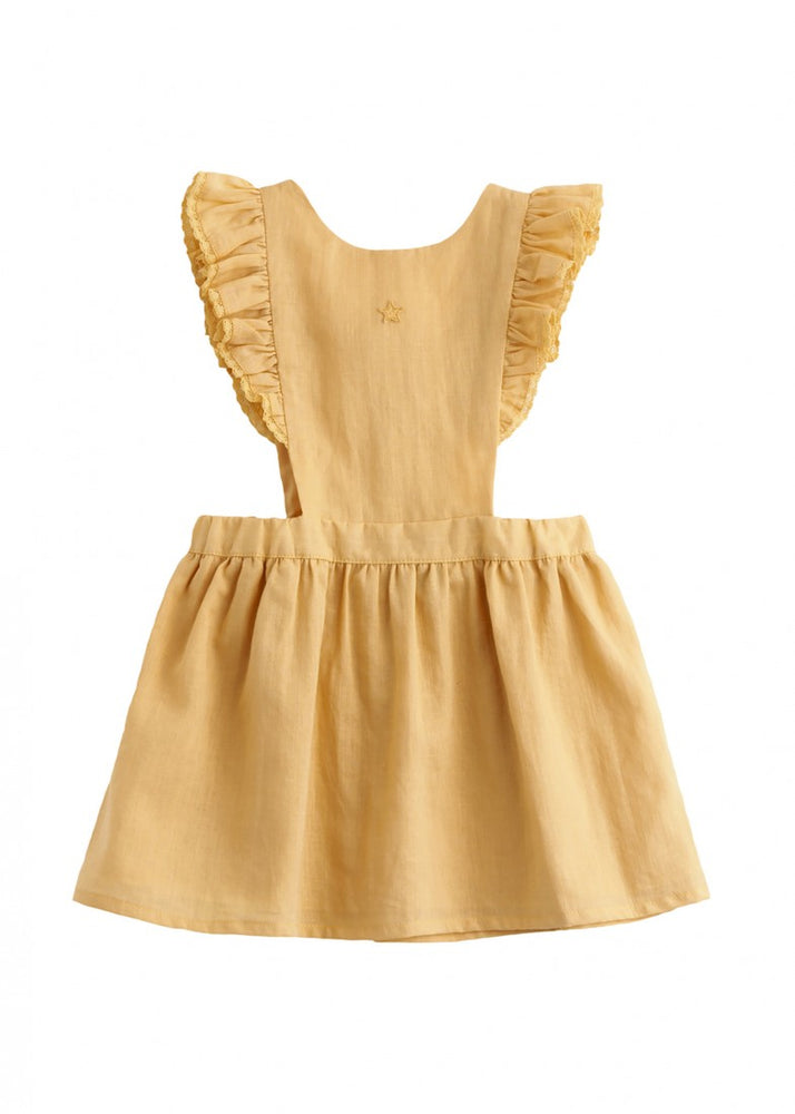 Tocoto Vintage Ruffle Shoulder Dress | Mustard - TAYLOR + MAX
