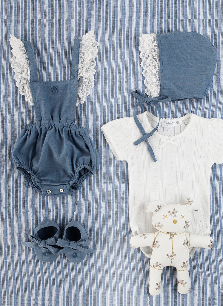 Tocoto Vintage Chambray Romper - TAYLOR + MAX