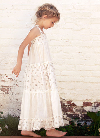Tocoto Vintage Girls Flowers Long Dress
