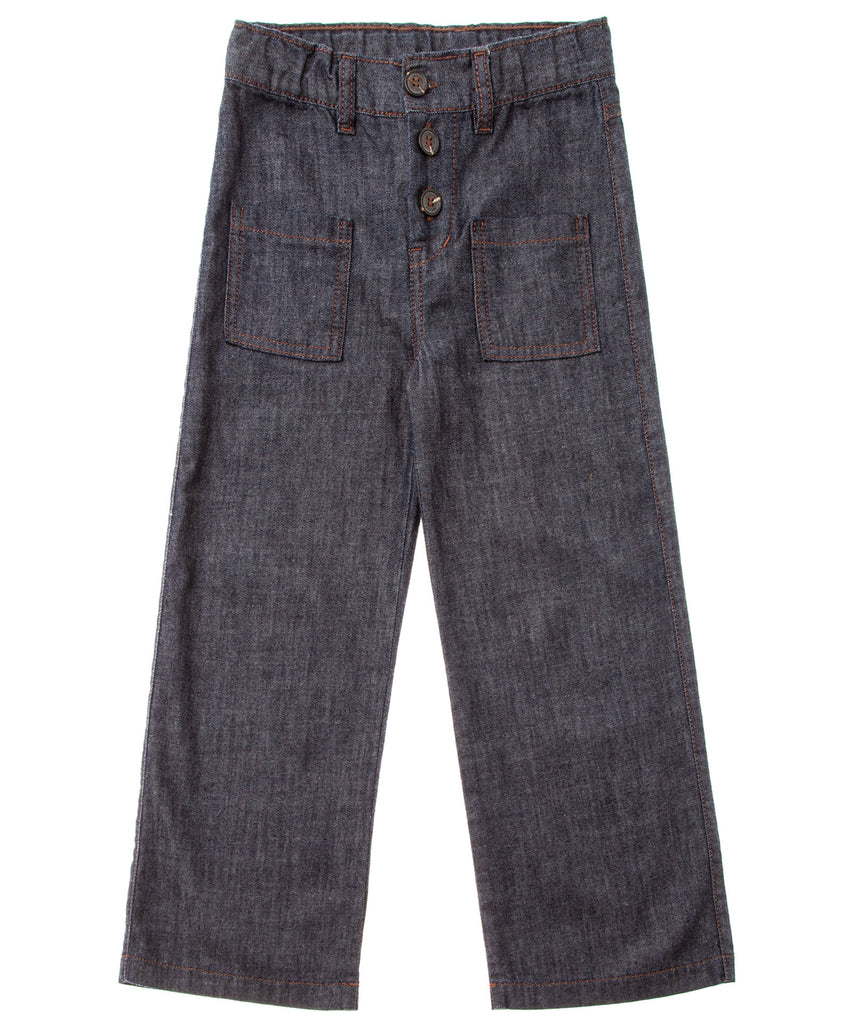 Tocoto Vintage Palazo pant in denim.