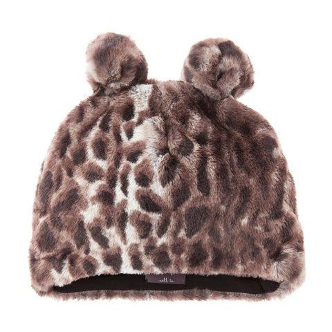 Tocoto Vintage Animal Print Fur Hat