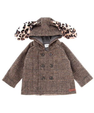 Tocoto Vintage Checkered Baby Hooded Coat - TAYLOR + MAX