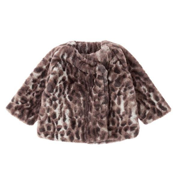 Tocoto Vintage Animal Print Fur Coat