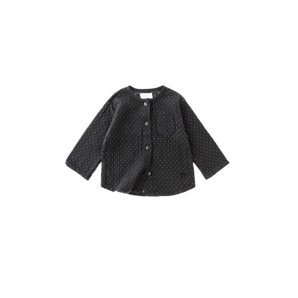 Tocoto Vintage Black Dots Mao Shirt