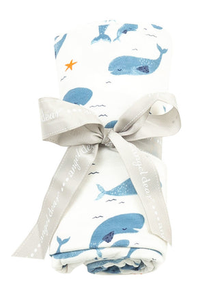 Load image into Gallery viewer, Whale Pod Swaddle Blanket - TAYLOR + MAX