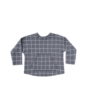 Load image into Gallery viewer, Check Pouch Tee | Indigo