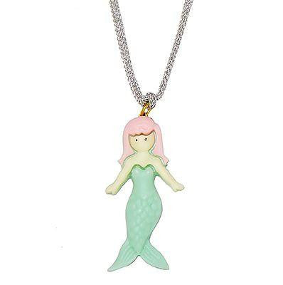 Girl's Mermaid Necklace- Aqua - TAYLOR + MAX