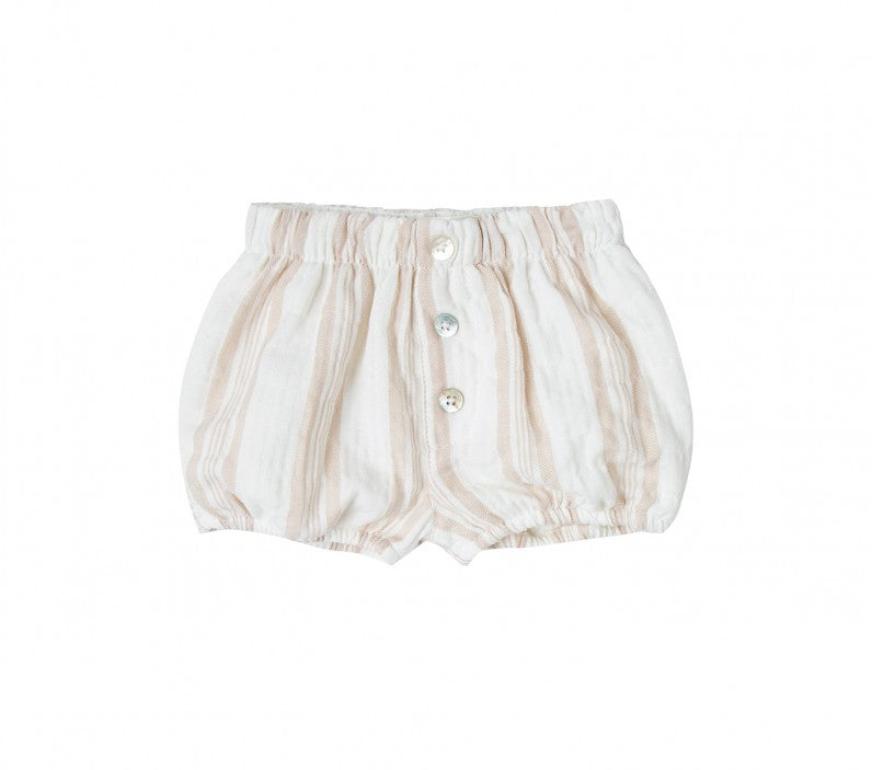 Load image into Gallery viewer, Rylee + Cru Sand Stripe Button Baby Short - TAYLOR + MAX