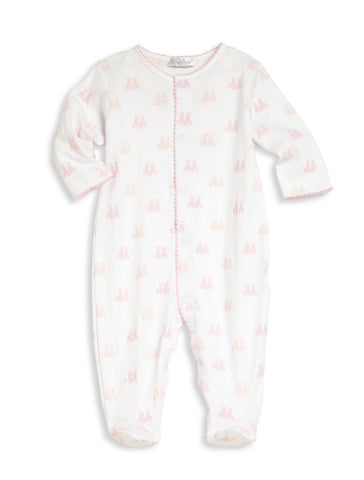 Kissy Kissy Pink Cottontail Pima Footie