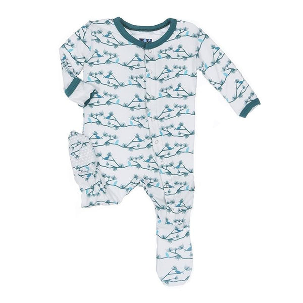 Kickee Pants Natural Pine Birds Footie - TAYLOR + MAX