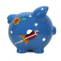 Hand Painted Personalized Astro Piggy Bank - TAYLOR + MAX
