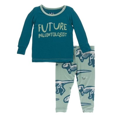 Kickee Pants Print Long Sleeve Pajama Set | Shore Future Paleontologist - TAYLOR + MAX